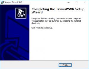 TrinusPSVRインストール完了画面