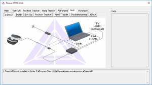 Trinus PSVR Help画面