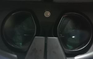 PSVRのカメラ画像(真っ暗)